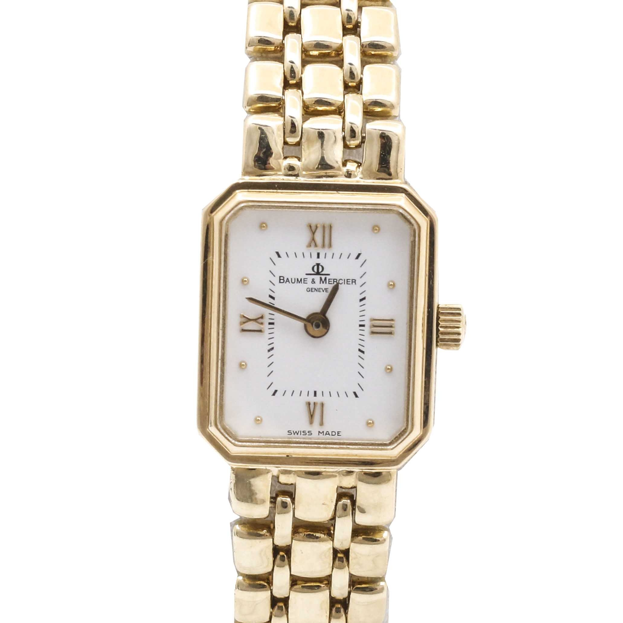 Baum & Mercier 14K Yellow Gold Bracelet Wristwatch