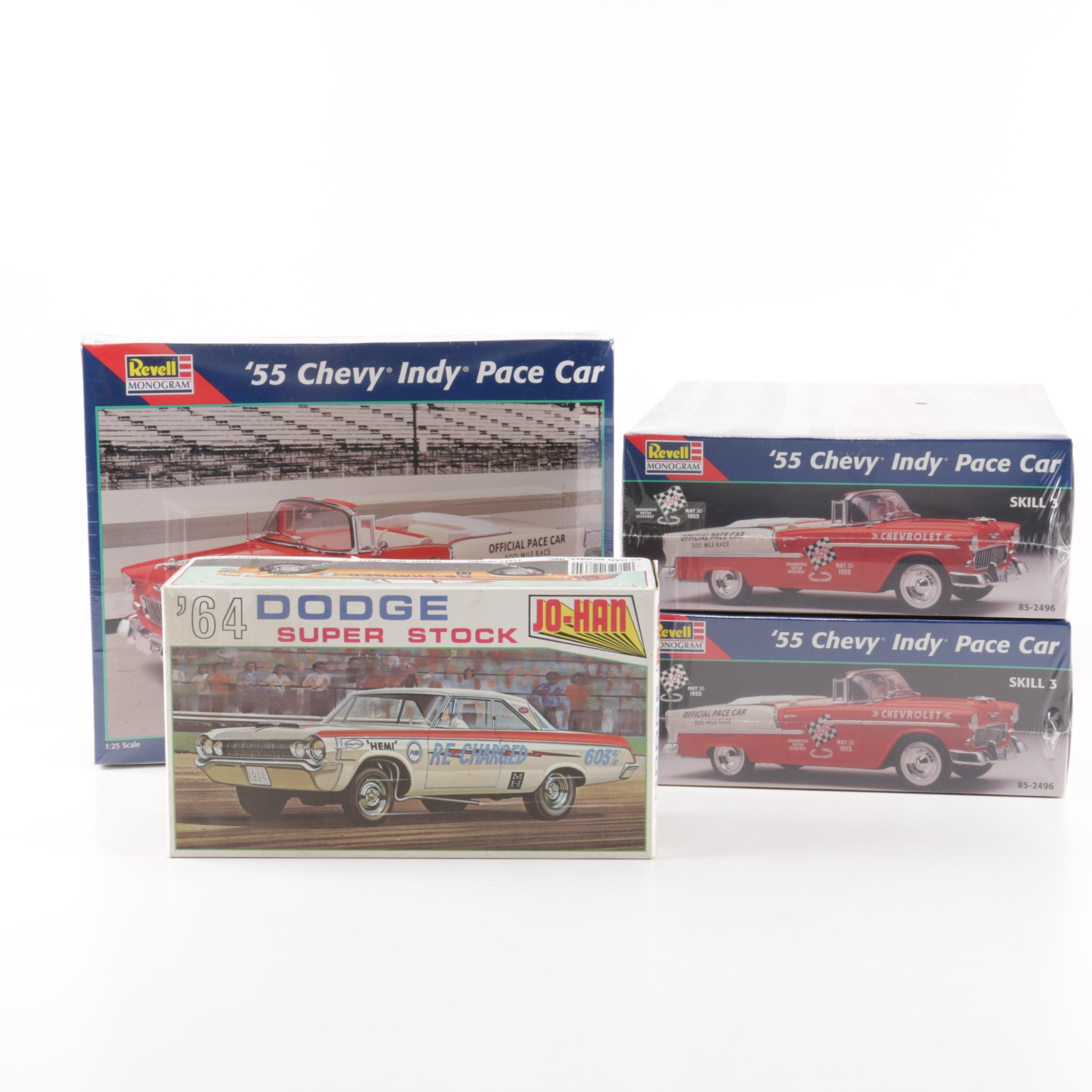 '55 Chevy Indy Pace Car Models by Revell and '64 Dodge by Jo-Han