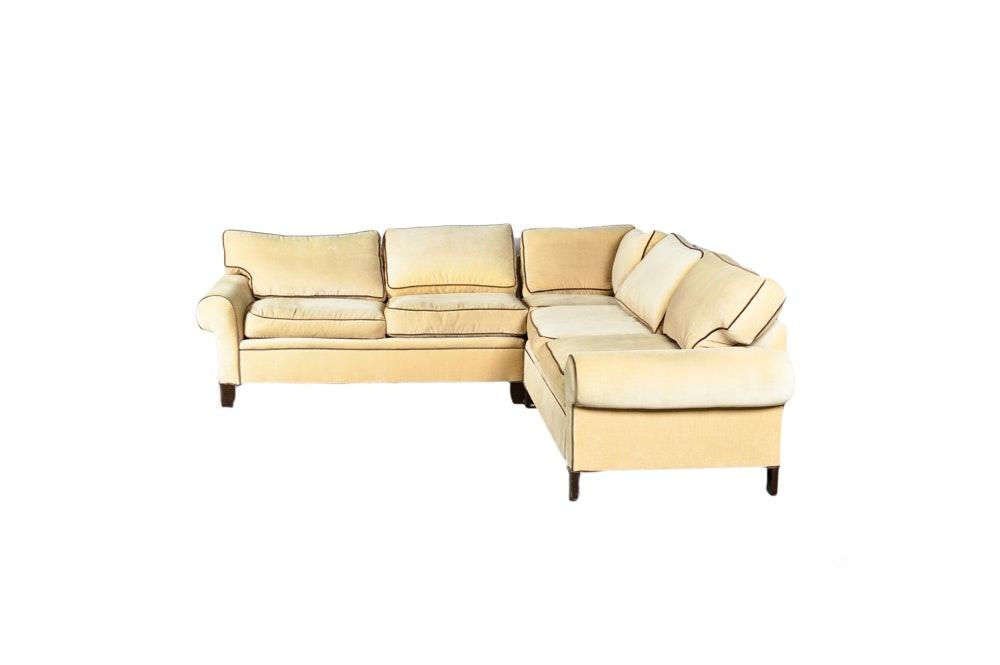 Tan Upholstered Sectional Sofa