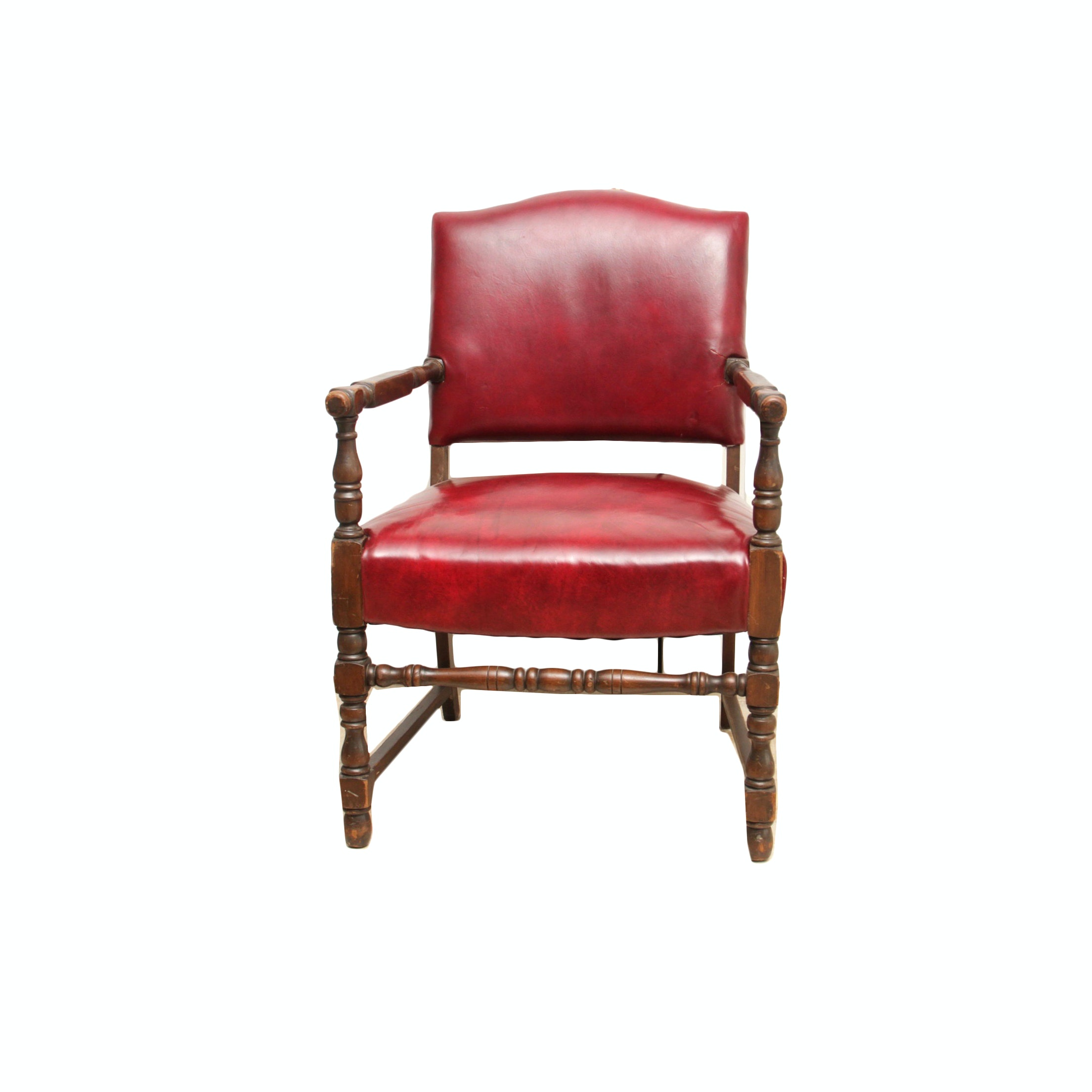Jacobean Style Upholstered Armchair