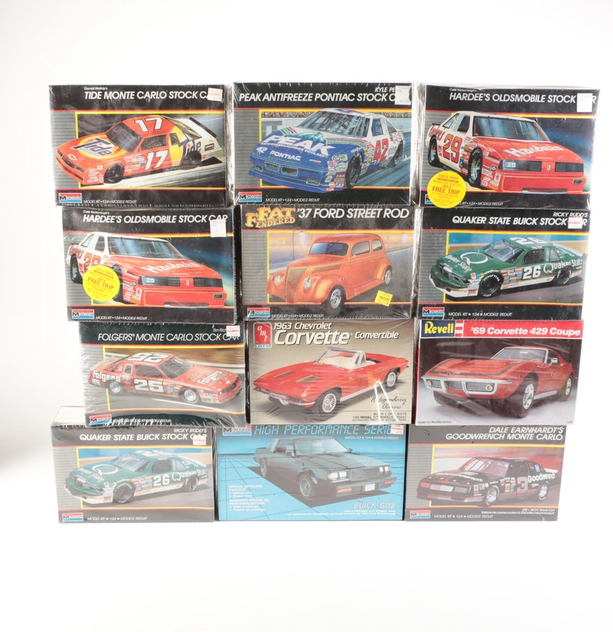 Monogram 1 24 Stock Car Model Kits And Other Car Model Kits Ebth