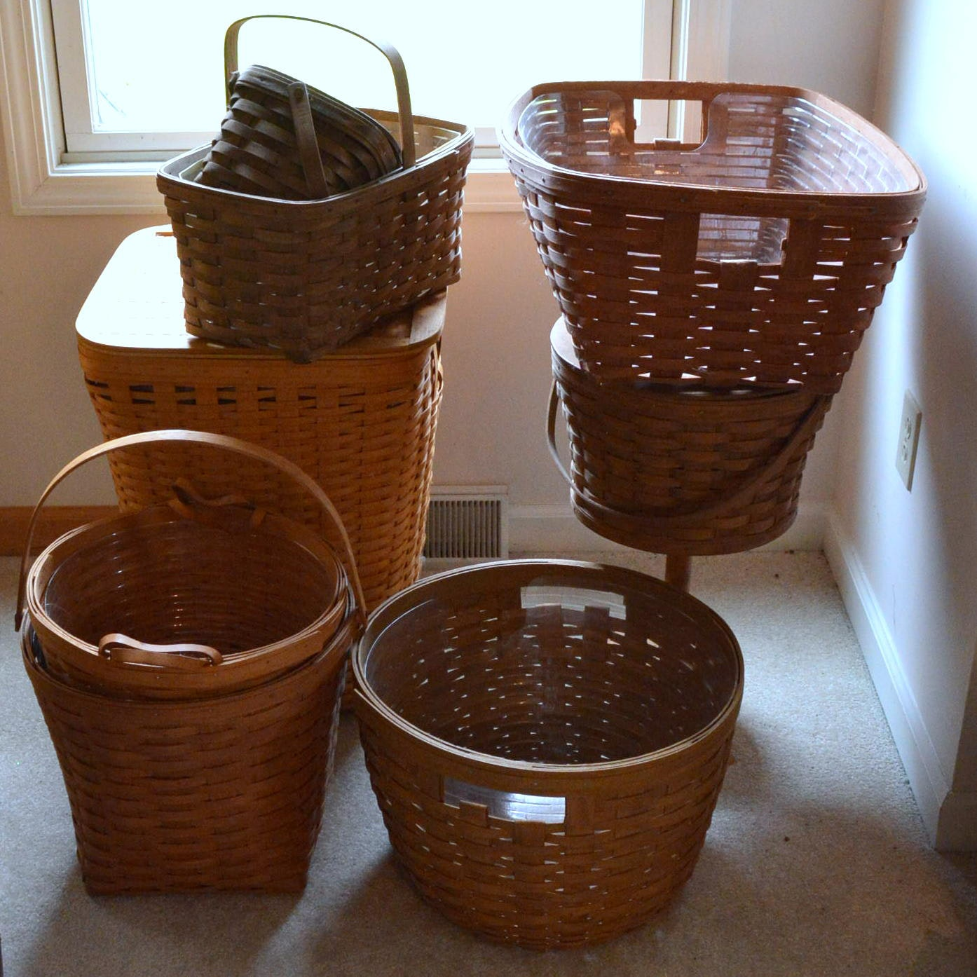 Wicker Longaberger Baskets
