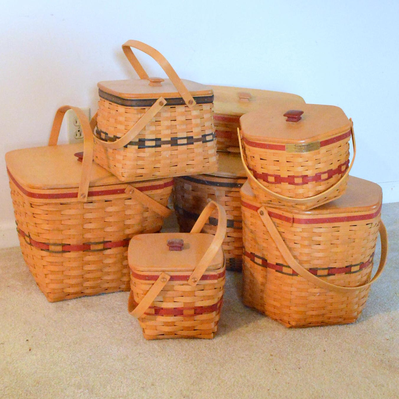 Lidded Longaberger Baskets