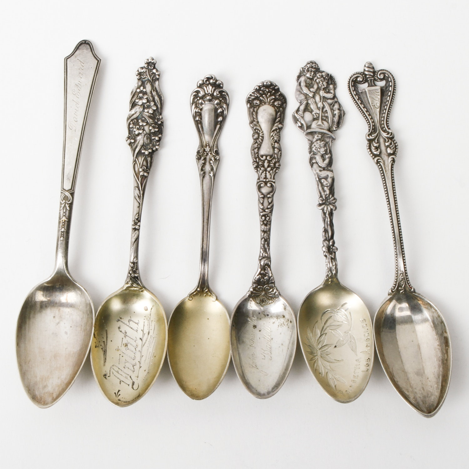 Assortment of Vintage and Antique Sterling Silver Spoons