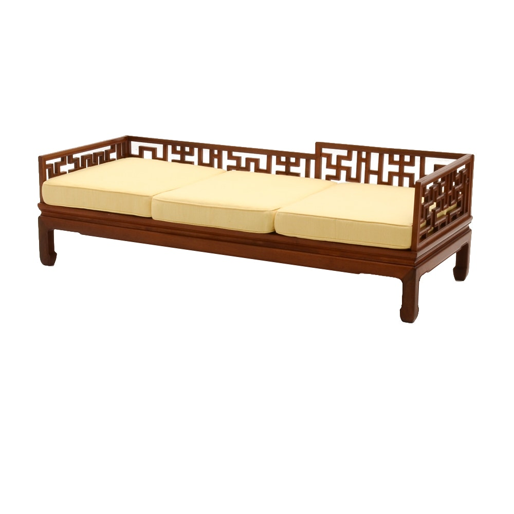 Chinese Inspired Mahogany Daybed