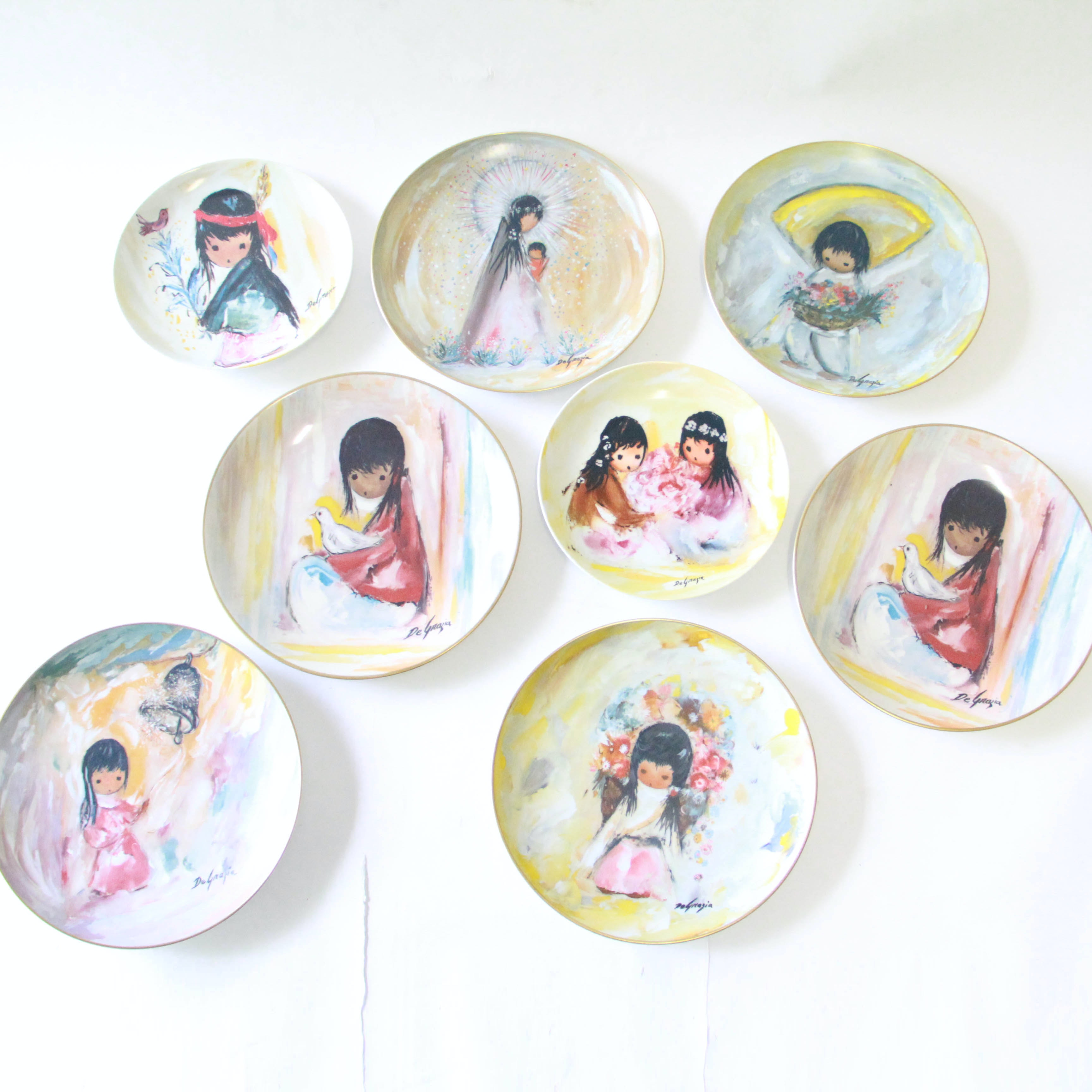 DeGrazia Limited Edition Plates Including Gorham and Fairmont