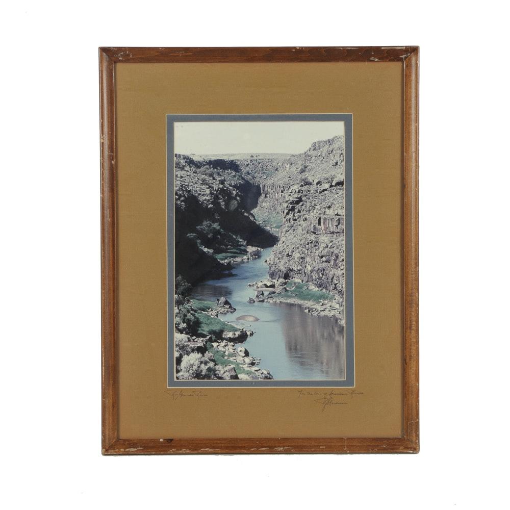 """Domenici Digital Photograph on Paper """"Rio Grande River"""""""