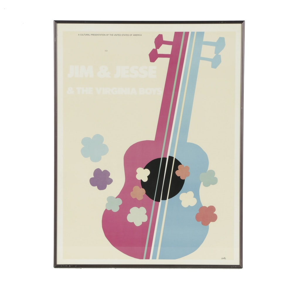 Half-Tone Poster Print for Jim & Jesse & The Virginia Boys