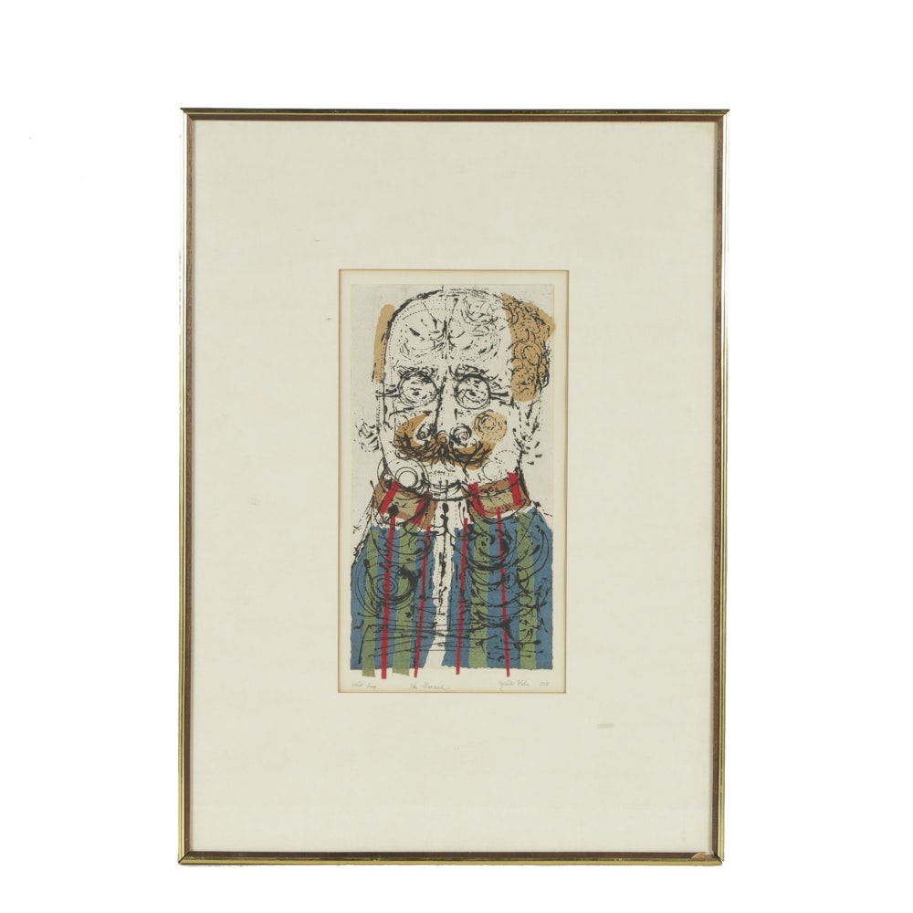 """Mish Kohn Artist's Proof Color Etching on Paper """"The General"""""""