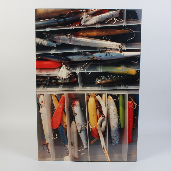 Giclée on Board of Fishing Lures