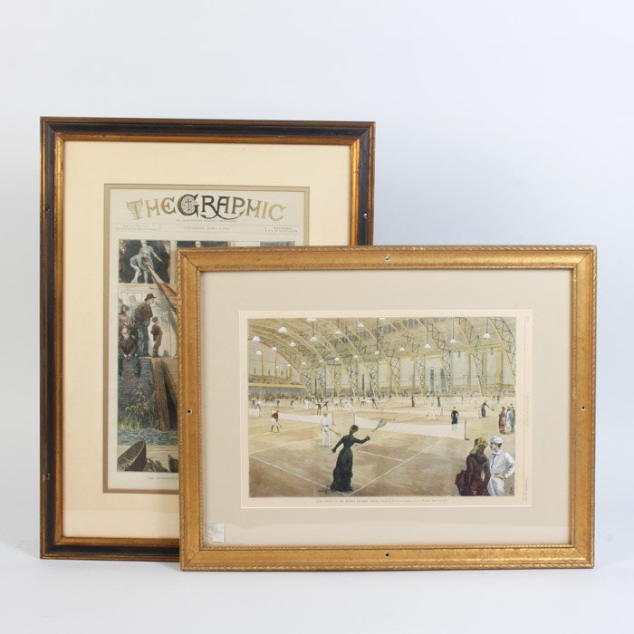 Pair of Color Engravings from Magazines and Newspapers