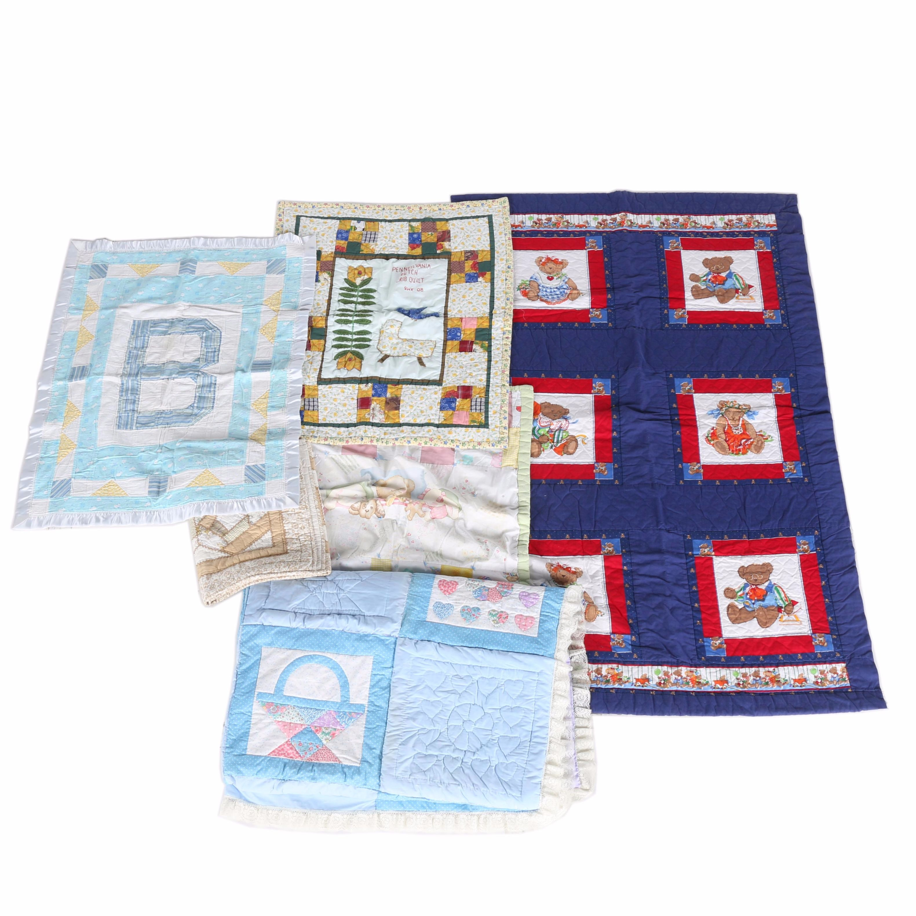 Collection of Baby Blankets and Quilts