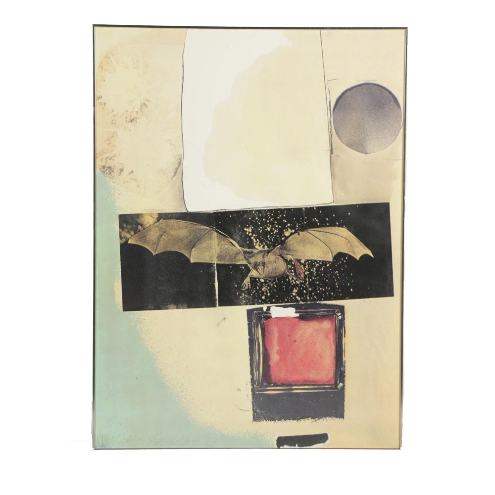 Robert Rauschenberg Limited Edition Offset Lithograph on Paper