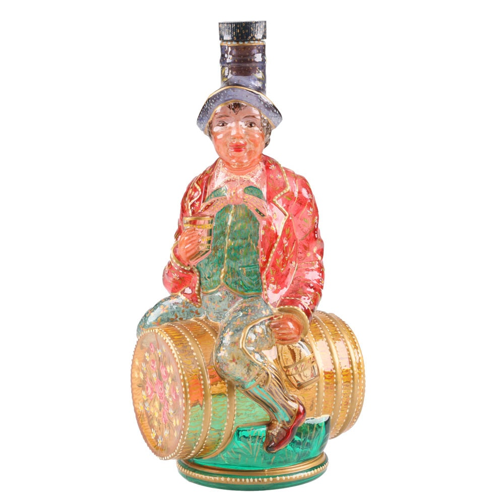 Vintage Italian Hand Painted Figural Bottle