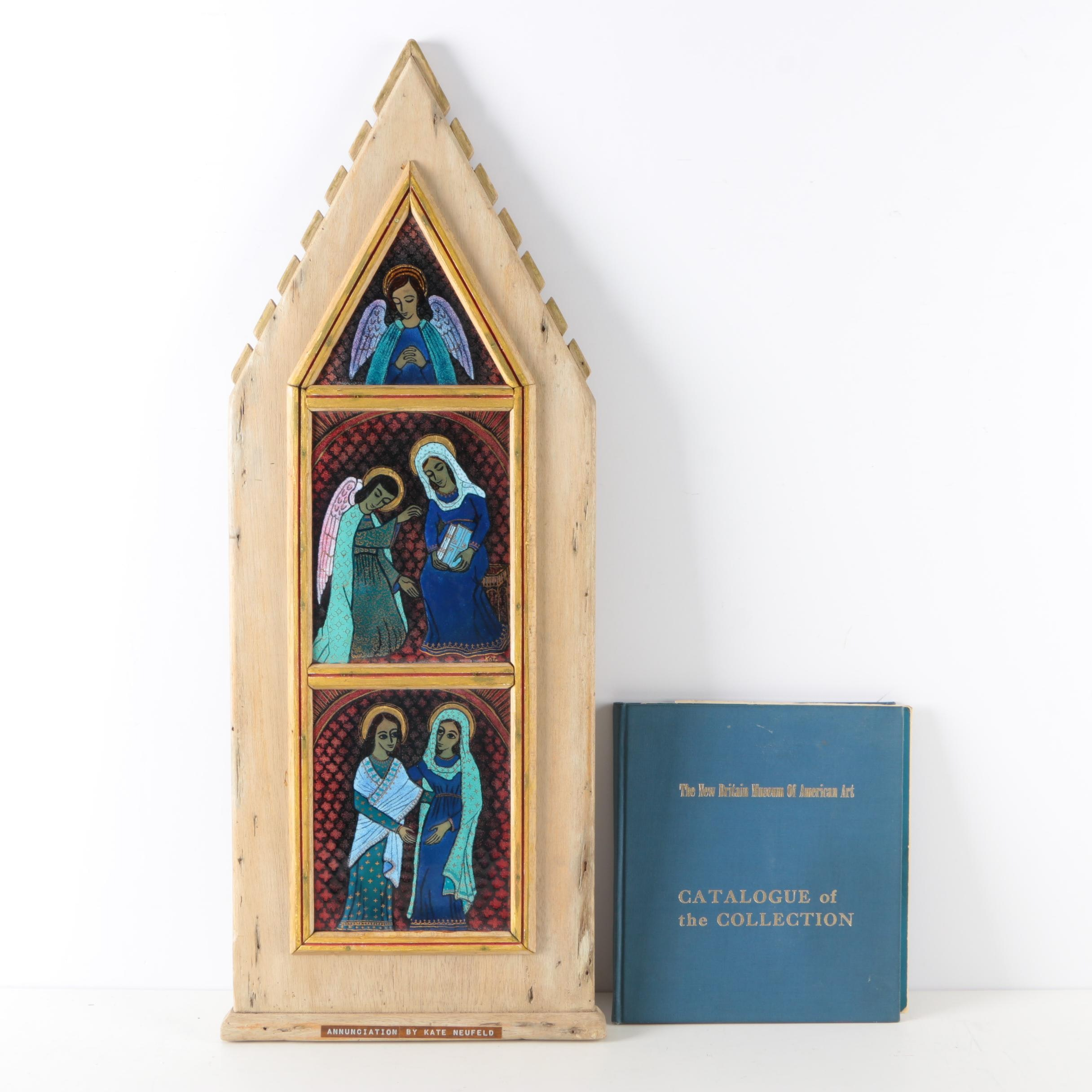 "Kate Neufeld Enamel Triptych ""Annunciation"""