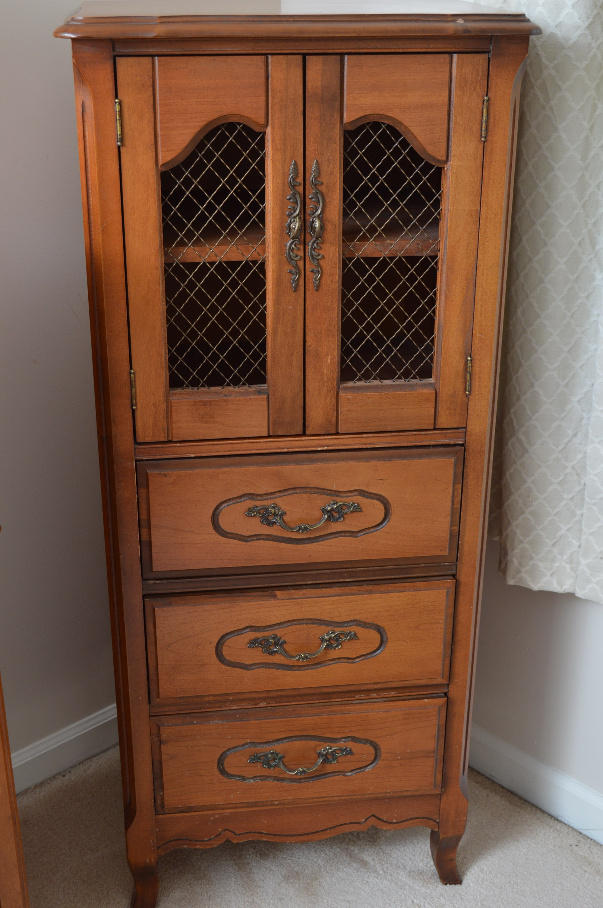 French Provincial Style Kitchen Cabinet