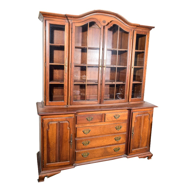 American Tradition Oak China Cabinet
