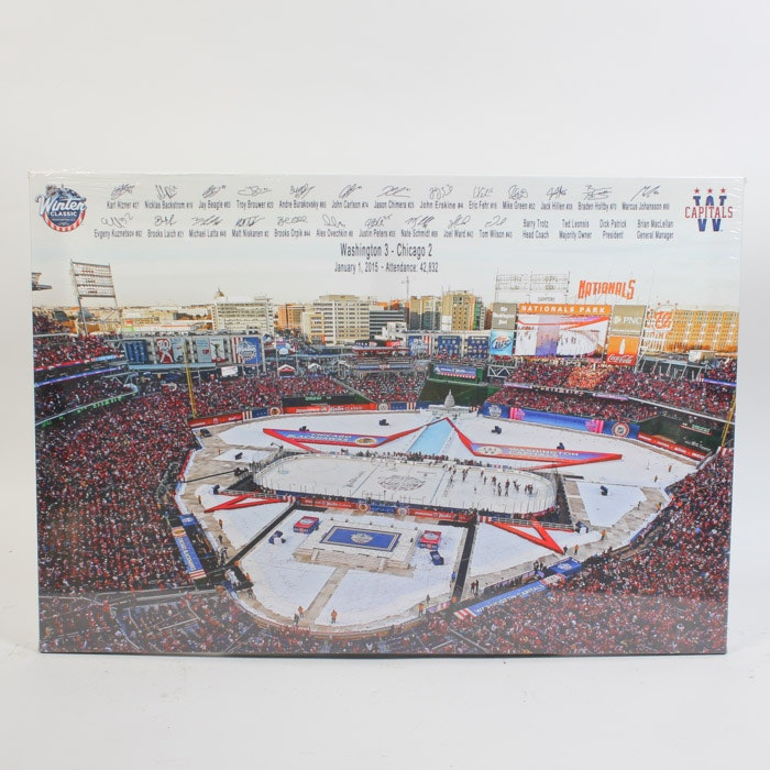 Giclée on Canvas After Photograph of the 2015 Washington Capitals Winter Classic