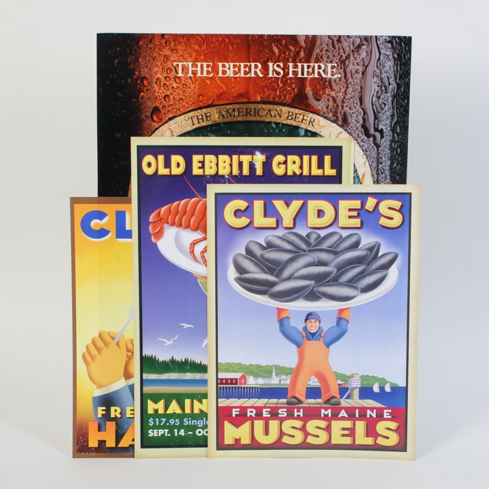 Collection of Clyde's Advertisement Posters