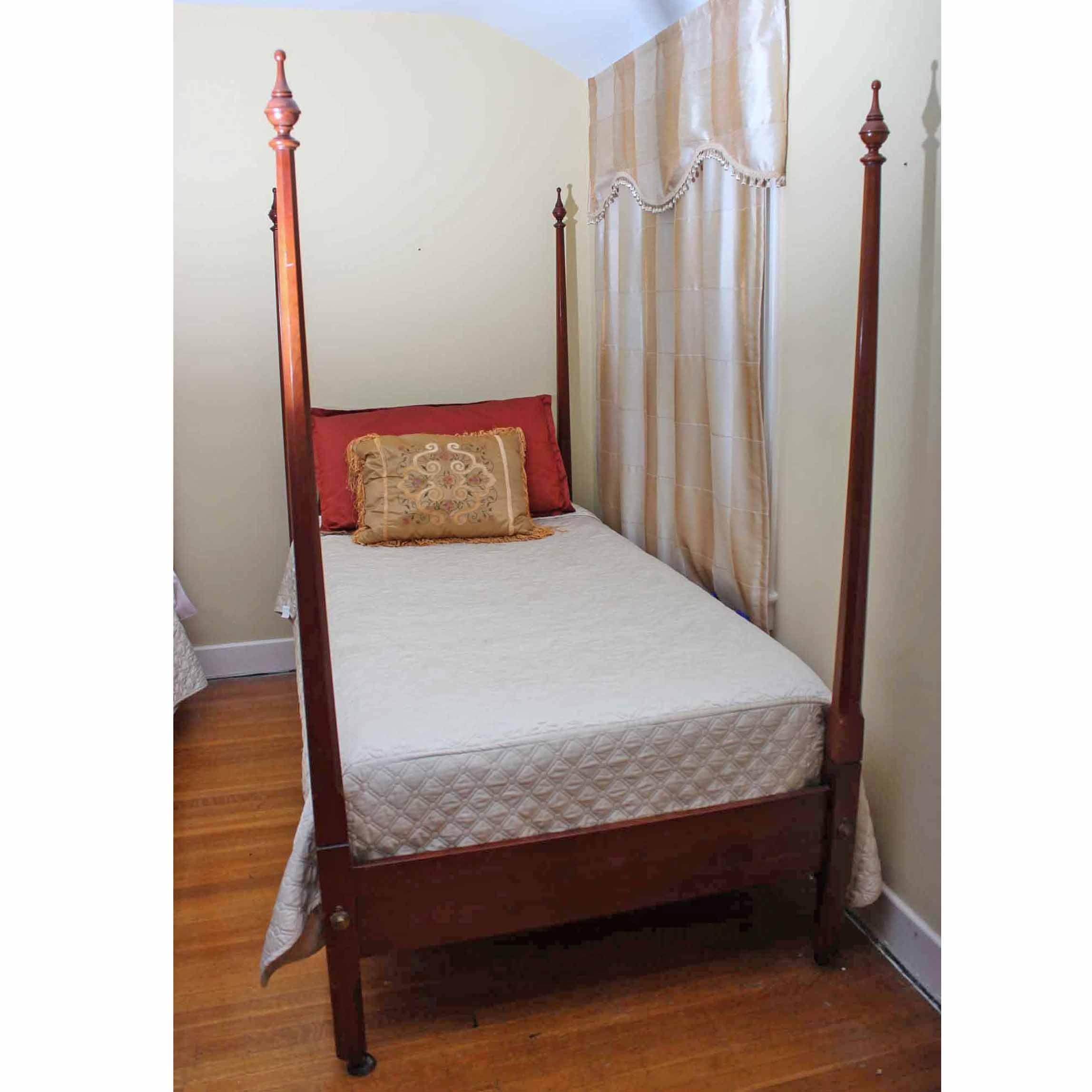 Cherry Twin Size Four Poster Bed Frame by Statton