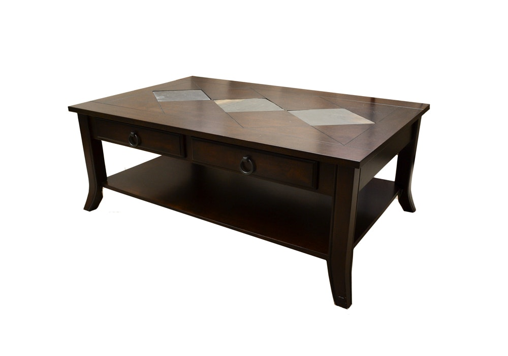 Coaster Wood And Slate Coffee Table ...