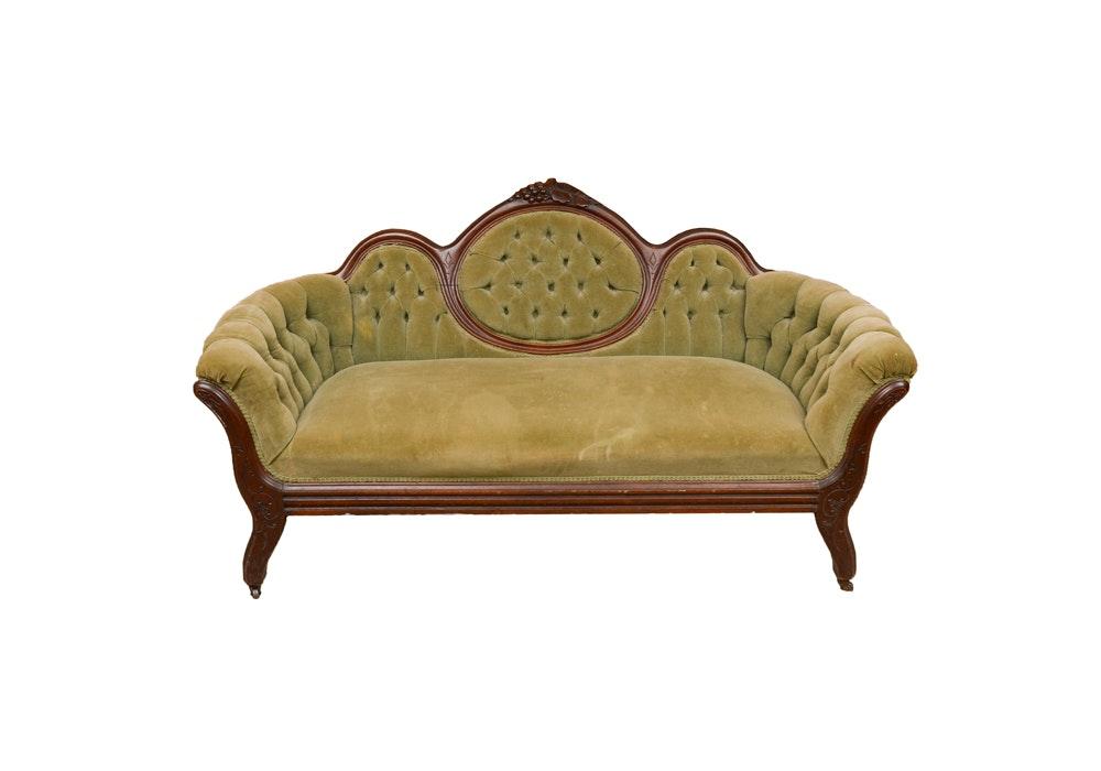 Rococo Revival Mahogany Sofa