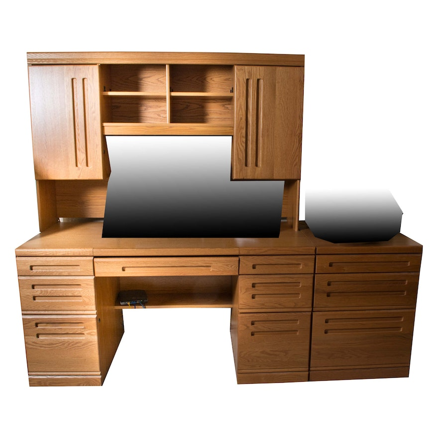Contemporary Office Desk And File Cabinet By Palliser Furniture