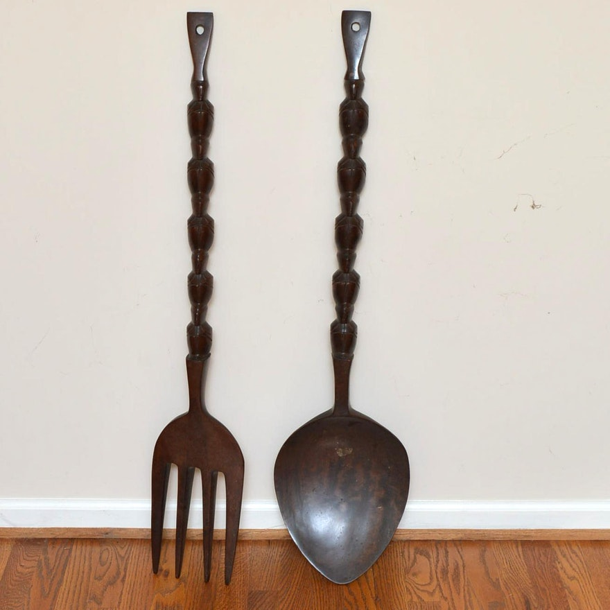 Large Fork And Spoon Wall Hangings
