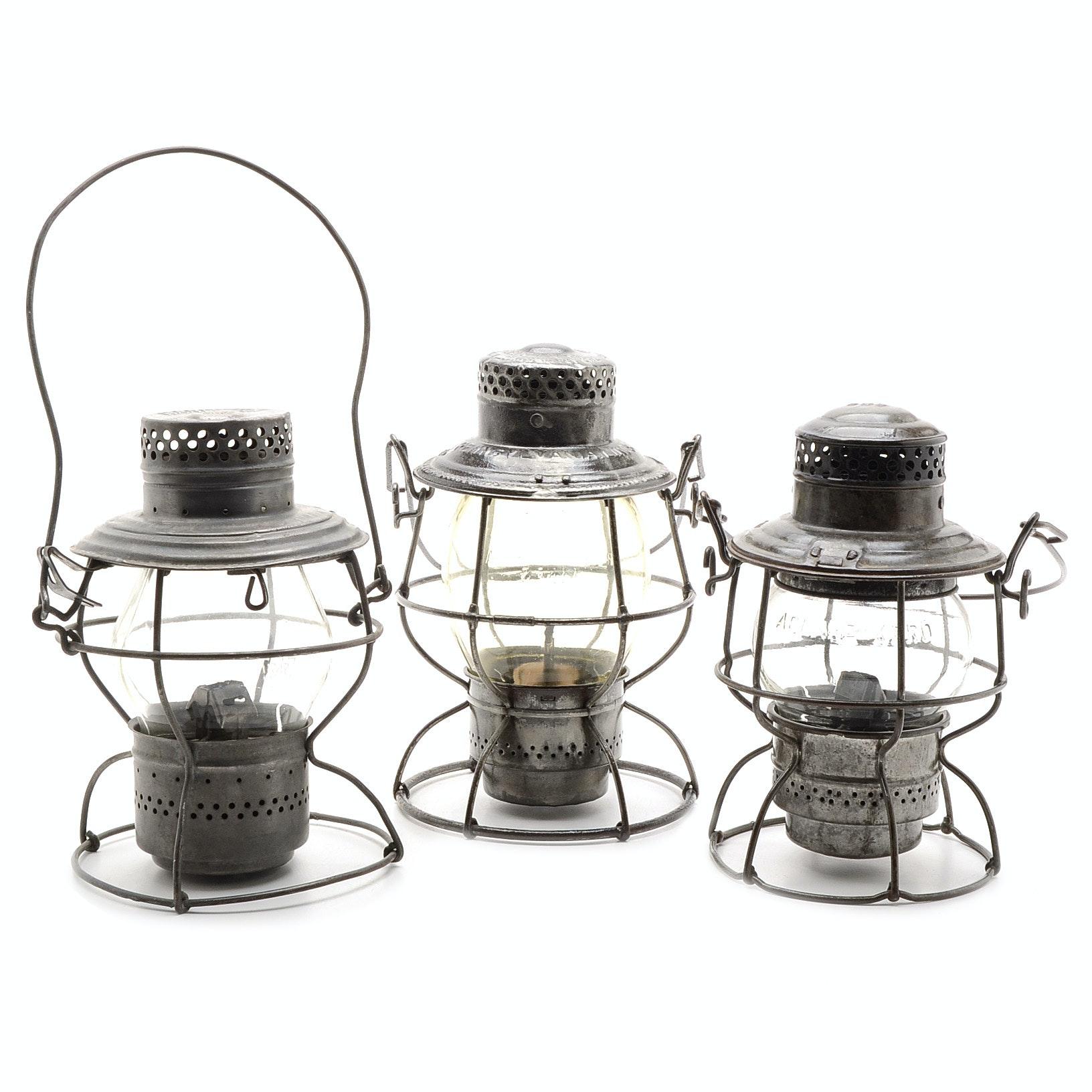 Collection of Vintage Railway Lanterns