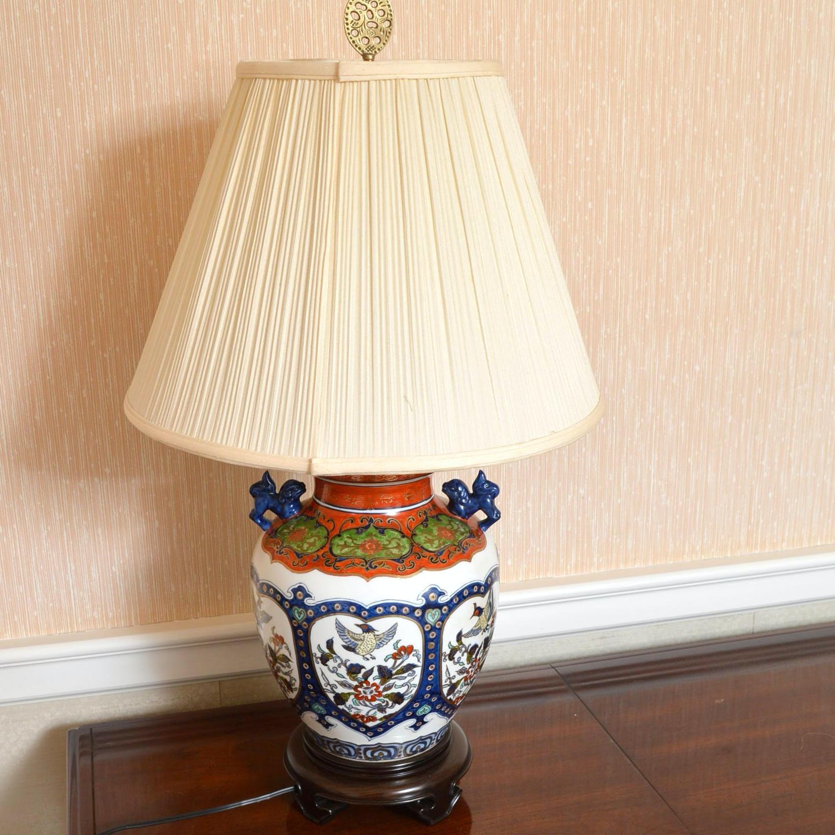 East Asian Style Porcelain Vase Table Lamp