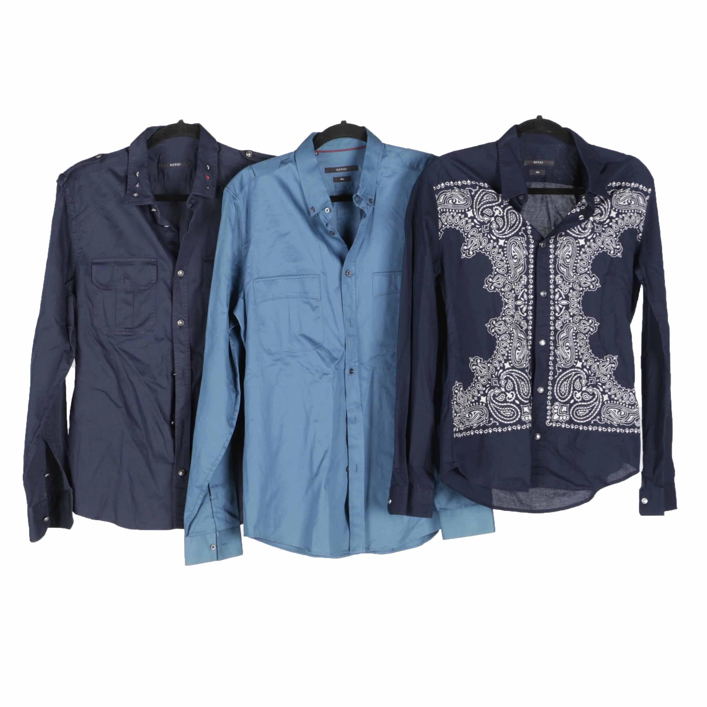 Men's Gucci Button Button Down Shirts