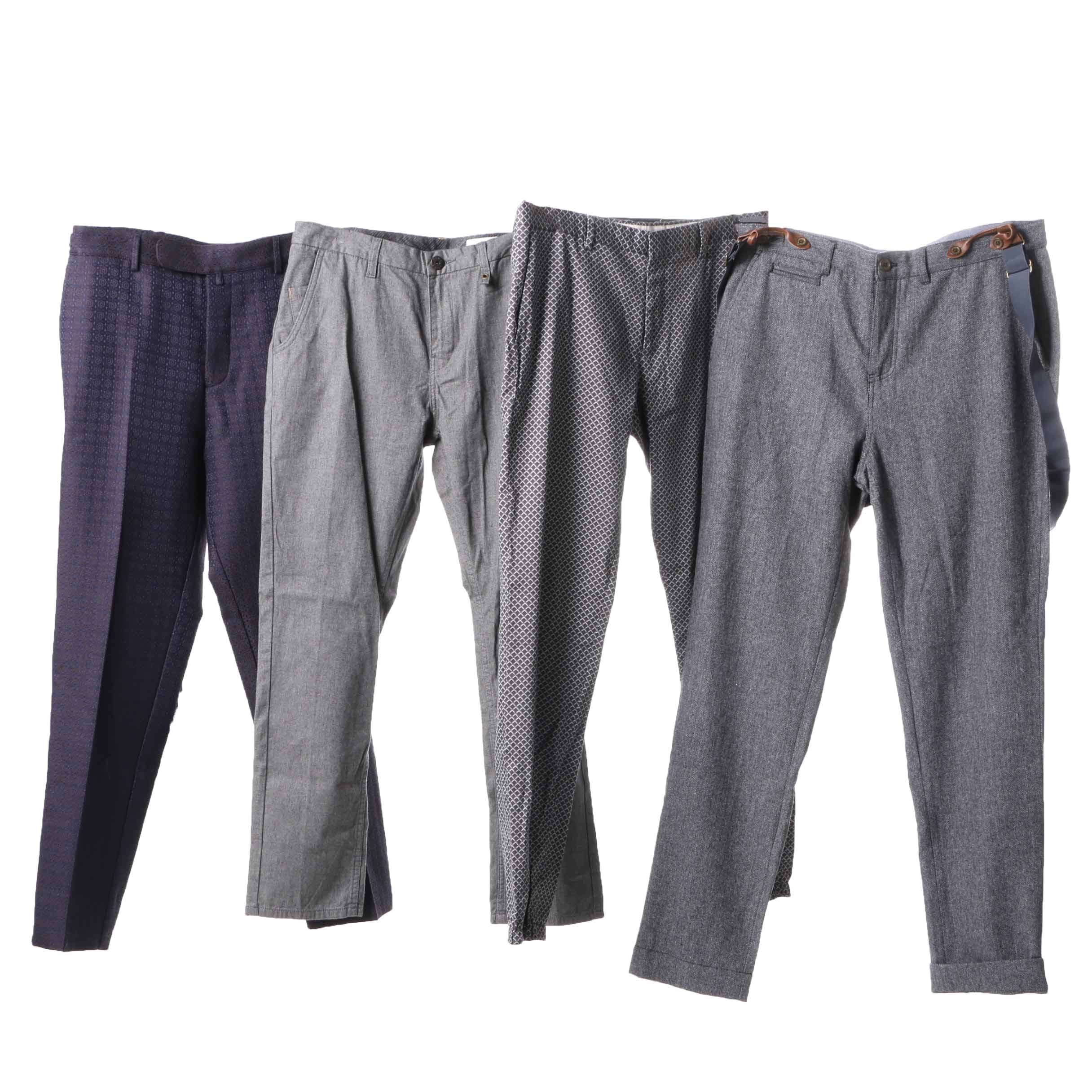 Men's Slacks Including Gucci and Paul Smith