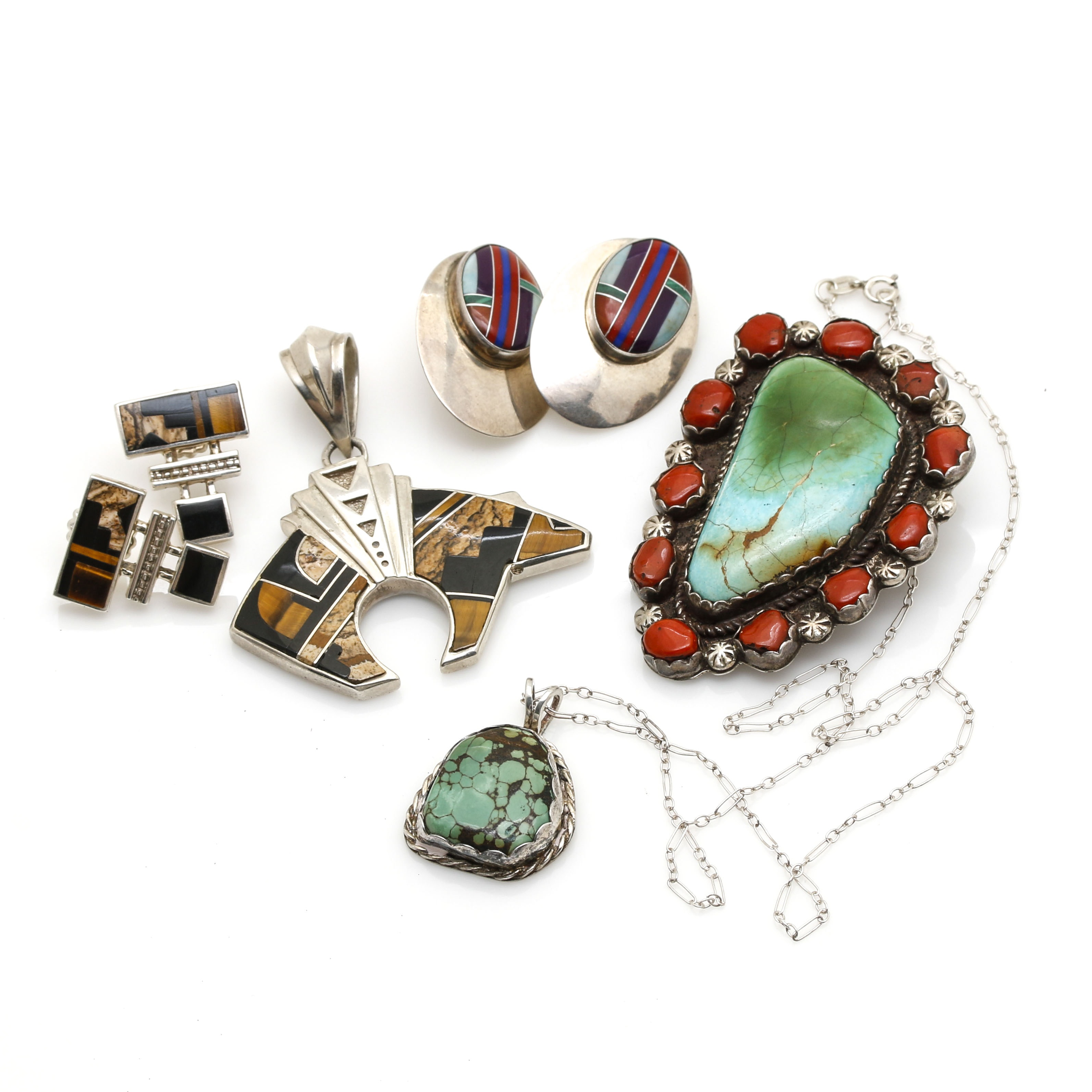 Sterling Silver Gemstone Jewelry Featuring Native American Silversmiths