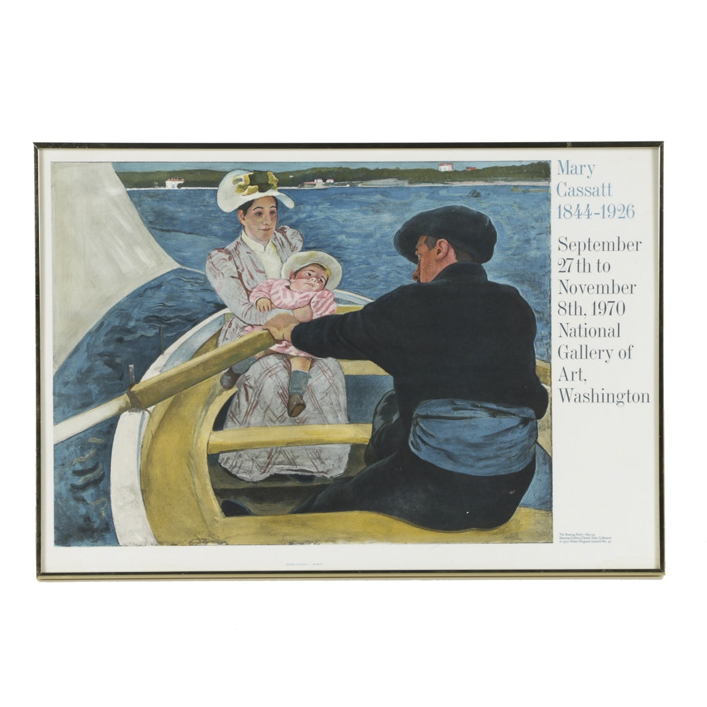 "Limited Edition Offset Lithograph on Paper Featuring the Work of Mary Cassatt ""The Boating Party"""