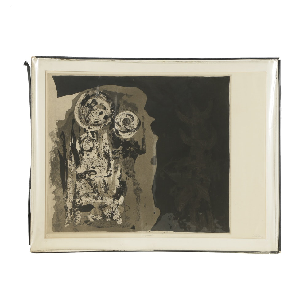 """John Ihle Limited Edition Aquatint Etching on Paper """"Alphonsus"""""""