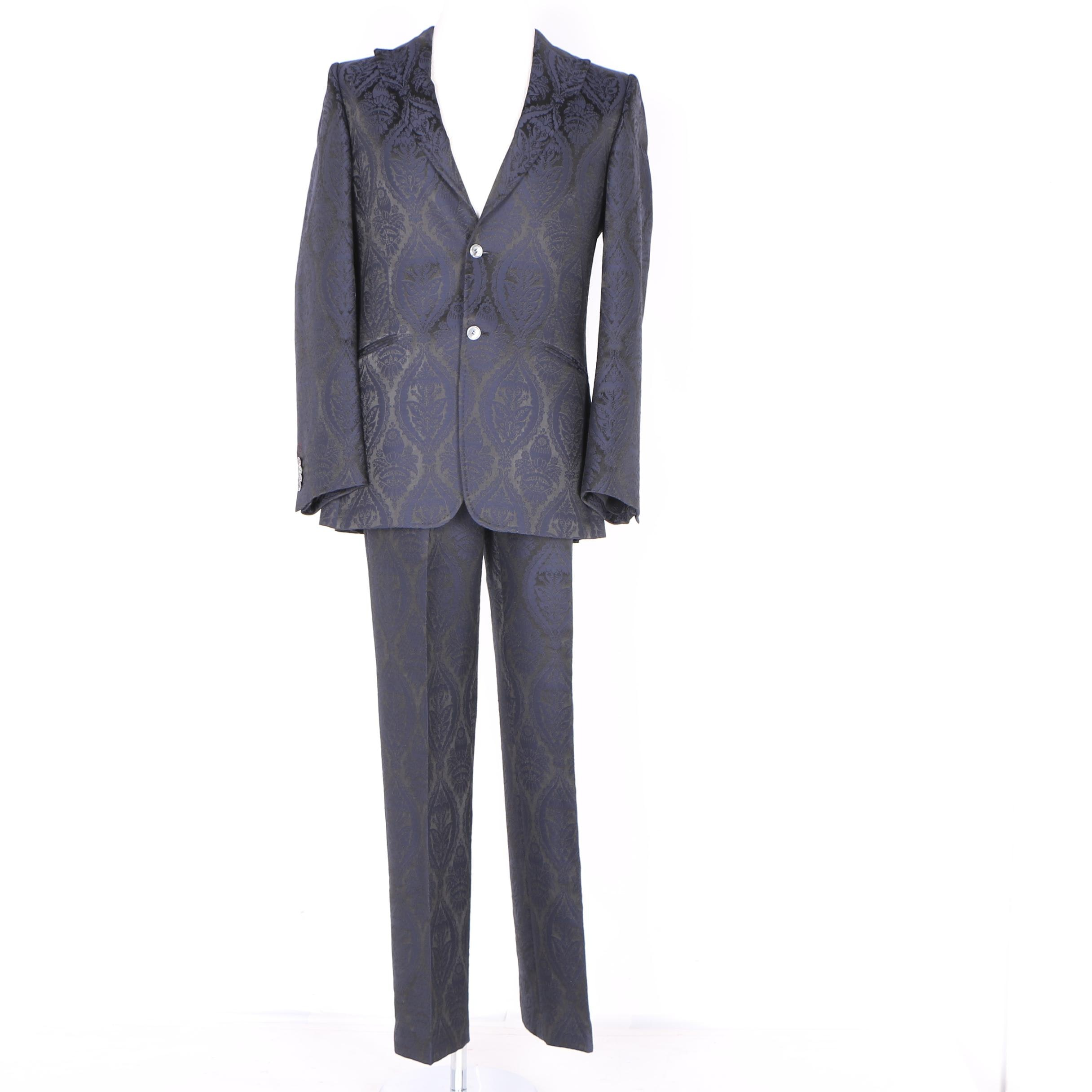 Moschino Demask Print Wool Blend Suit