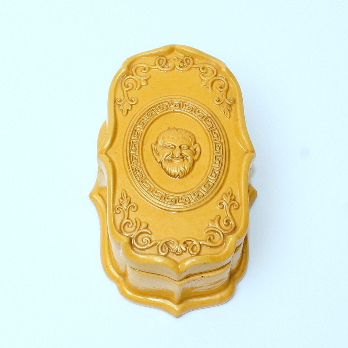 Antique Terracotta Yellow Ware  Match Box