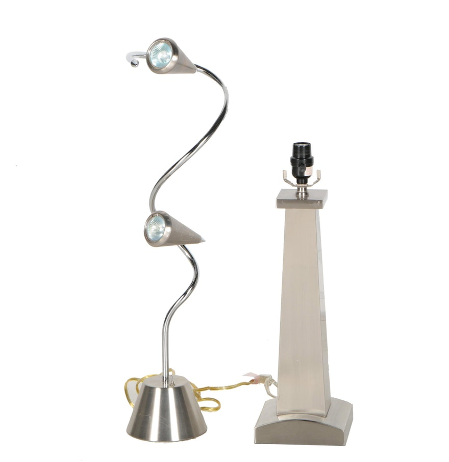 Contemporary stainless steel lamps ebth