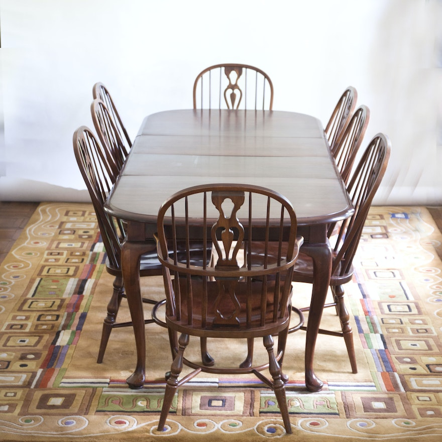 solid maple dining table and chairs by e r buck ebth. Black Bedroom Furniture Sets. Home Design Ideas