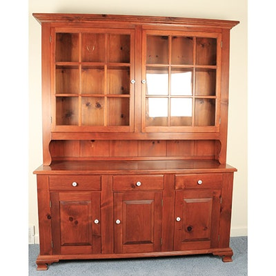 Pennsylvania Style Pine Dutch Cupboard