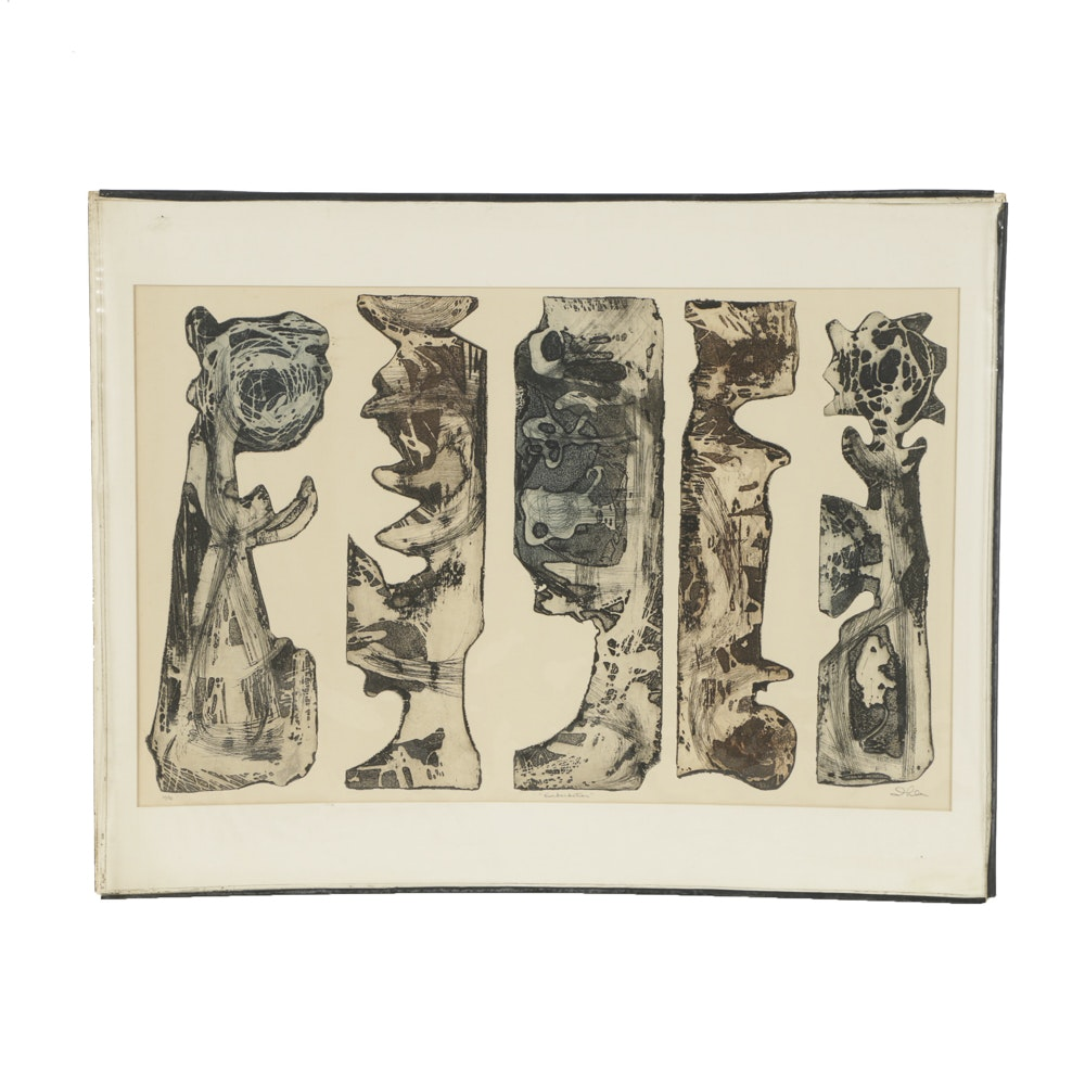 """John Ihle Limited Edition Etching on Paper """"Embarkation"""""""