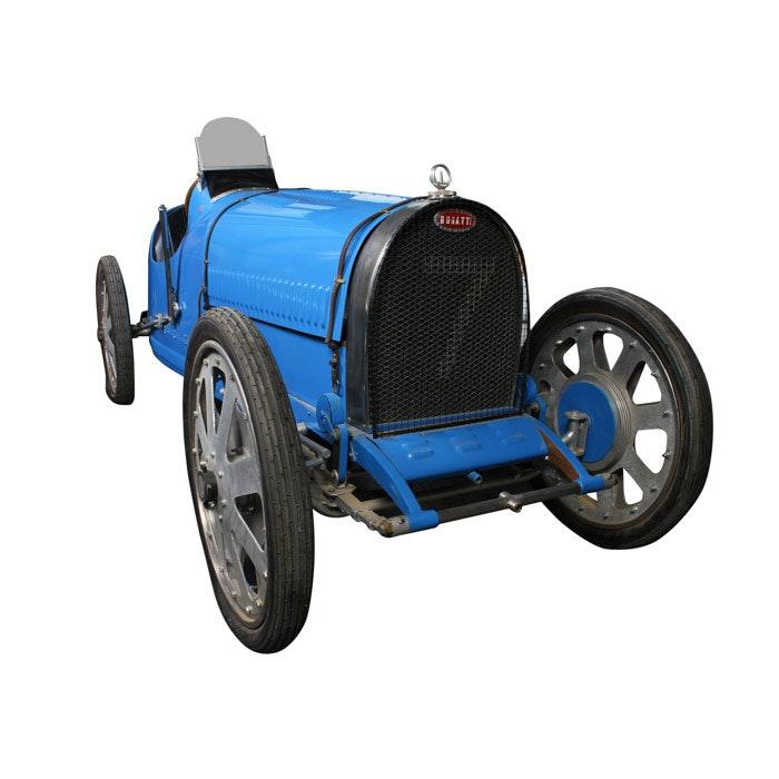 Blue Bugatti T-35 Cyclekart