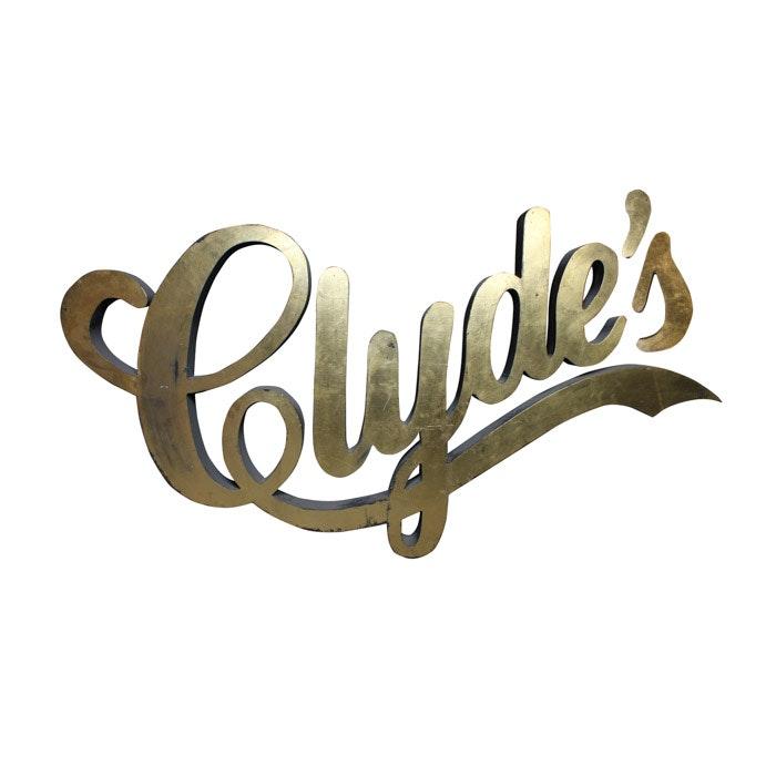 Clyde's Restaurant Sign