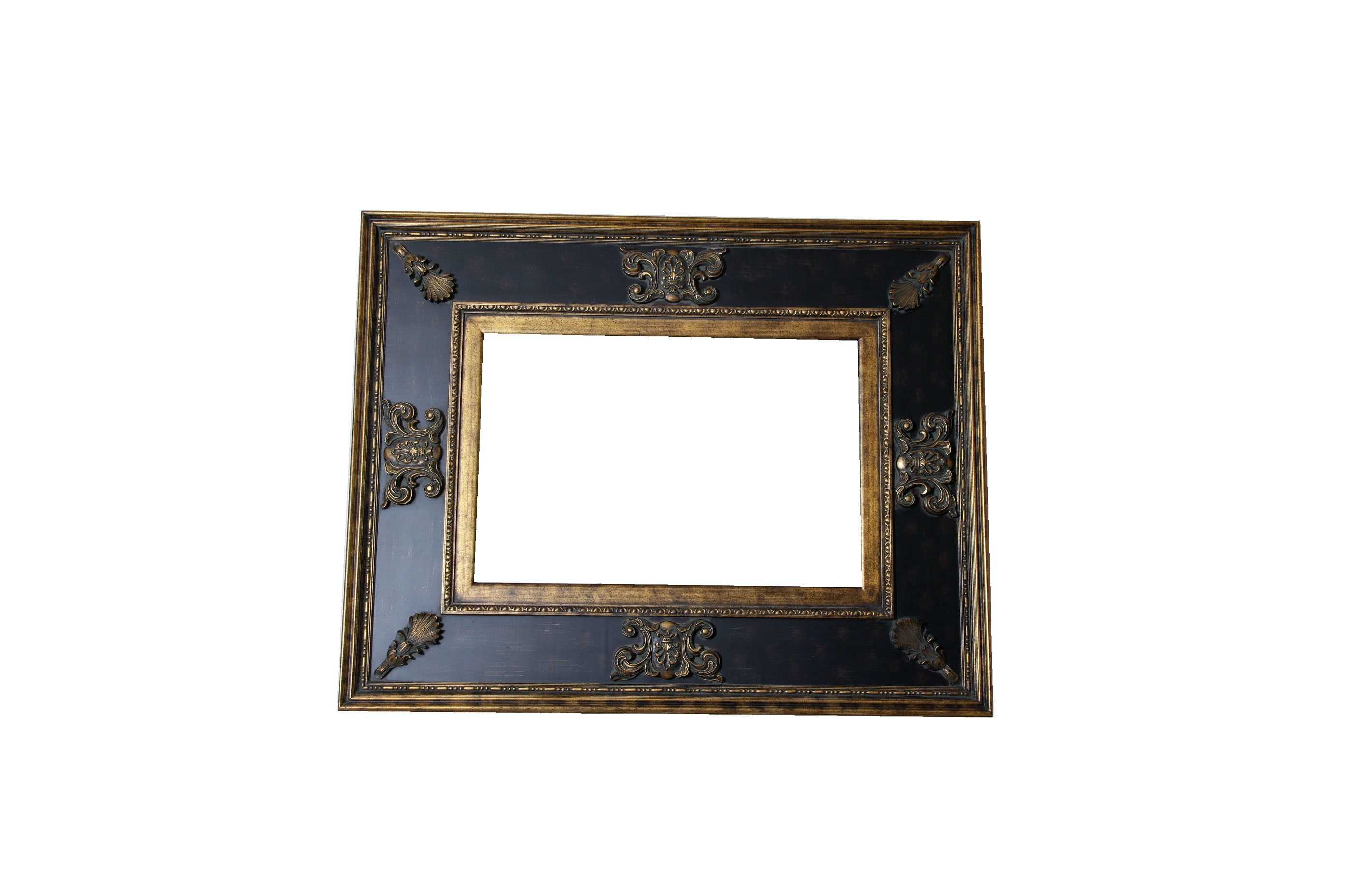 Large Framed and Beveled Mirror