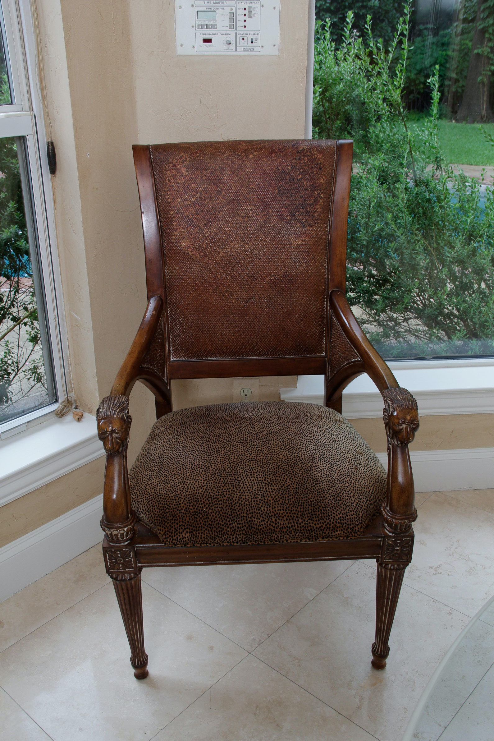 Perfect Four Iberville Arm Chairs In Waxed Cherry By Thomasville ...