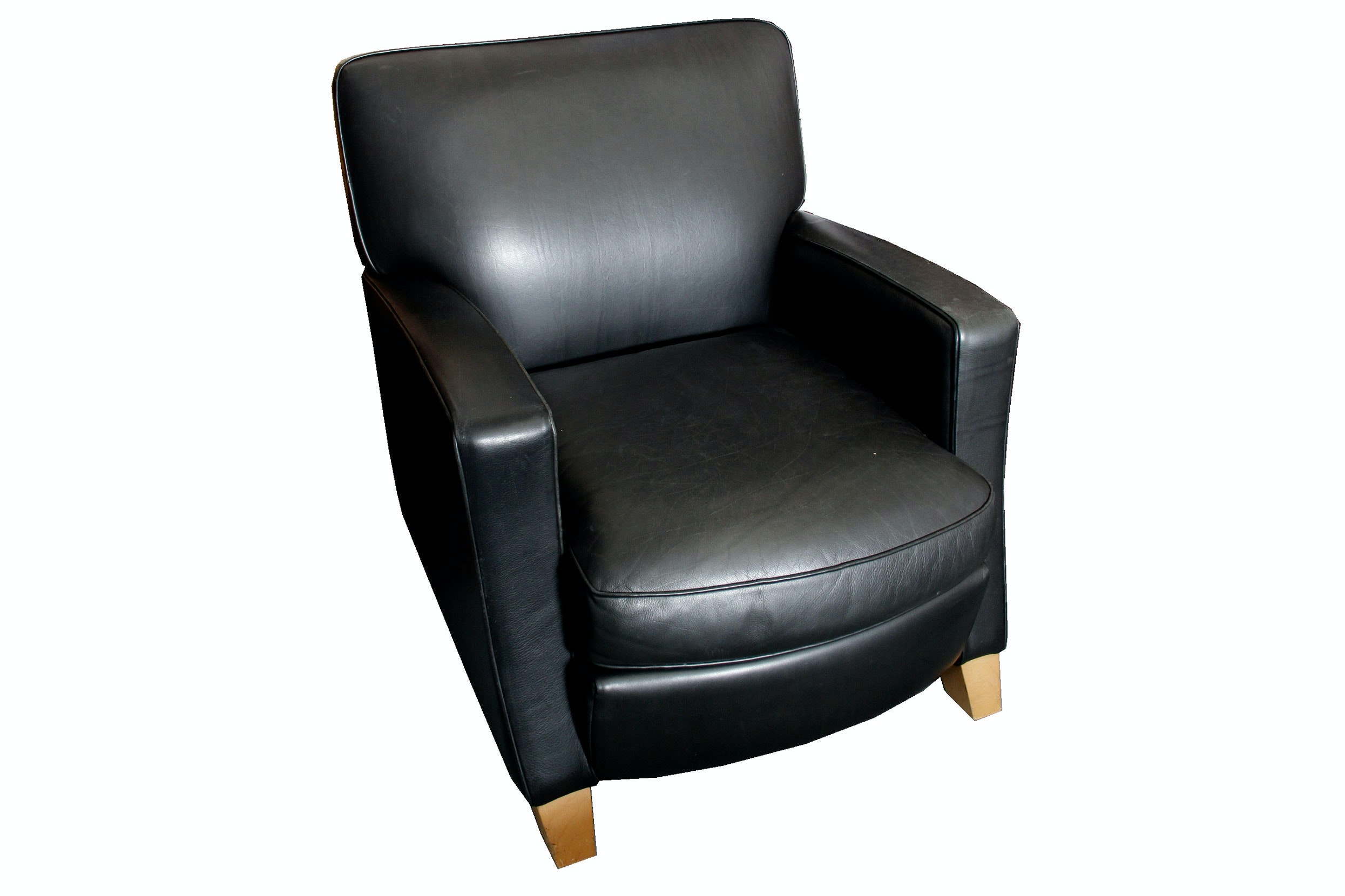 Cantoni Black Leather Paris Chair by American Leather Studio