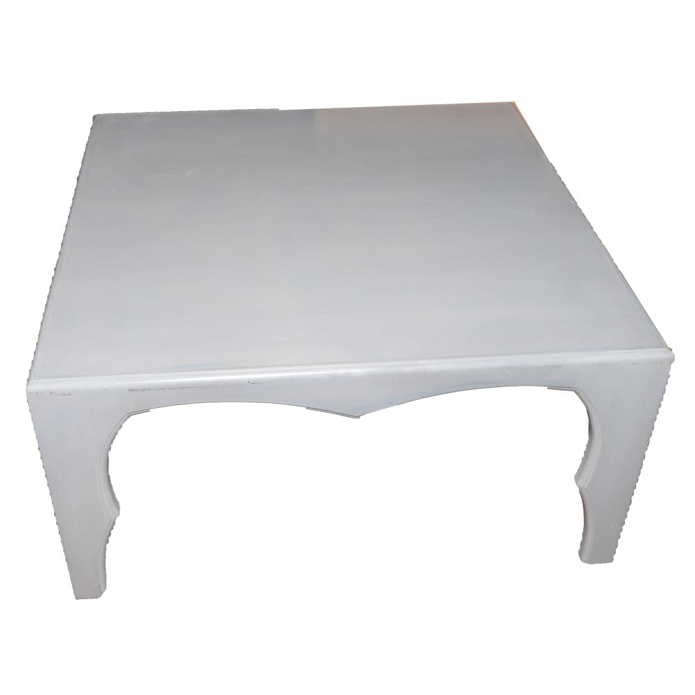 Painted Gray Coffee Table