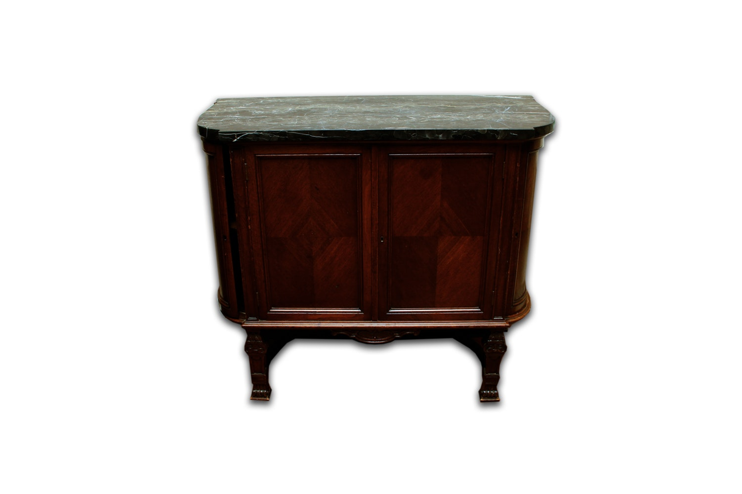 Dark Stained Oak Cabinet with Granite Top