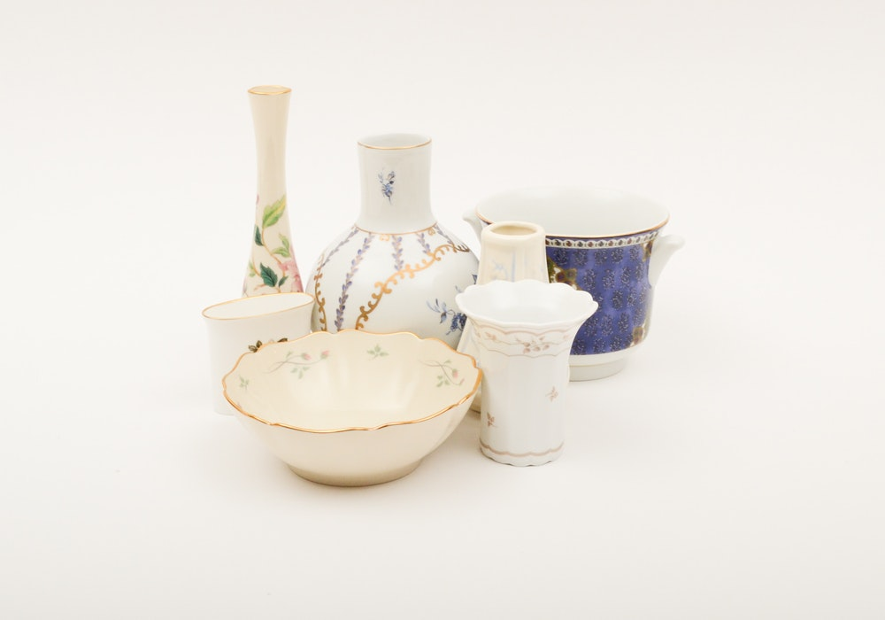 Ceramic Vases and Bowls Including Royal Paris and Lenox