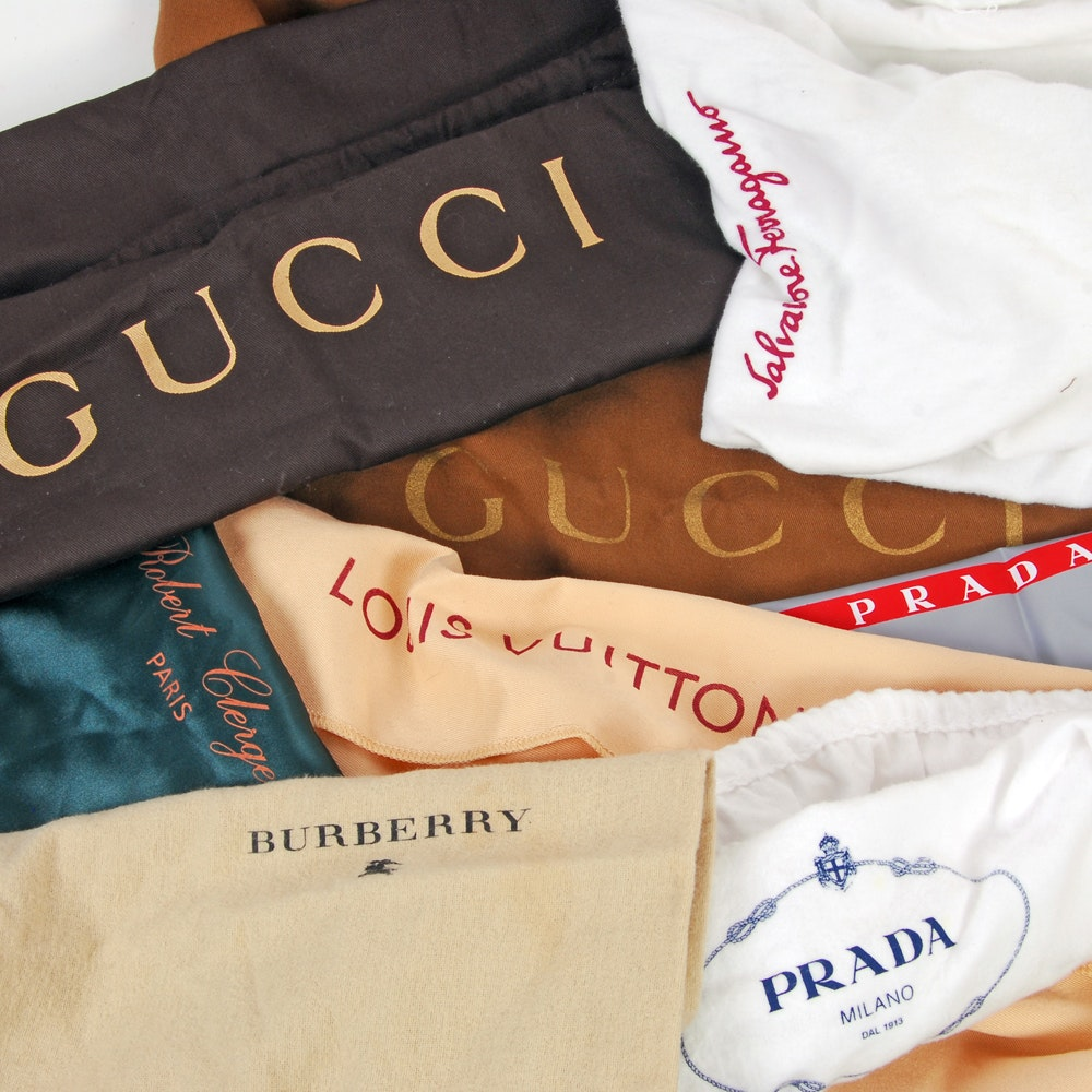 High Fashion Dust Bags Including Gucci and Louis Vuitton